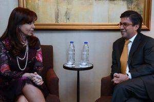 La presidenta Cristina Fernández se reúne con el presidente del Banco Interamericano de Desarrollo (BID), en Nueva York. 22/09/2014. Foto Casa Rosada